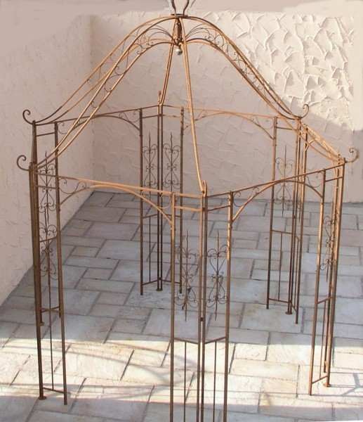 pavillion metall pavillon pavilion laube schmiedeeisen rondella rost rund 350 cm. Black Bedroom Furniture Sets. Home Design Ideas