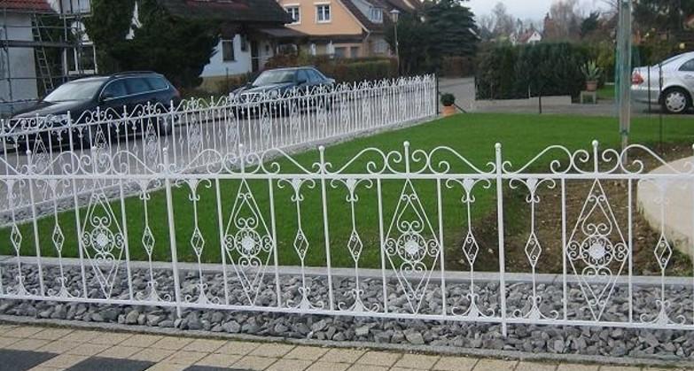 Schmiedeeisen zaun rankzaun vitoria z 190 cm verzinkt ebay - Zaun schmiedeeisen ...