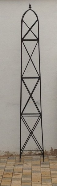 rankstab rankhilfe pfosten obelisk rosen clematis alina xxl 225 rost ebay. Black Bedroom Furniture Sets. Home Design Ideas