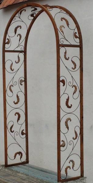 rundbogen laubengang massiv 30 rohr rosenbogen lisbao rb 120 200 roh rost rostig ebay. Black Bedroom Furniture Sets. Home Design Ideas