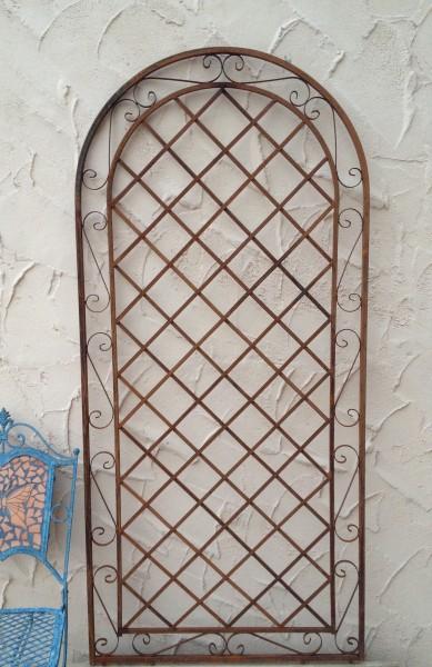 rankgitter spalier wand rankhilfe sichtschutz metall provence xxl rost riesig ebay. Black Bedroom Furniture Sets. Home Design Ideas
