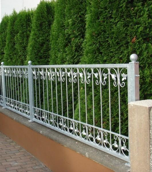 Schmiedeeisen Zaun Rankzaun Vitoria-Z 100 cm roh-rostig