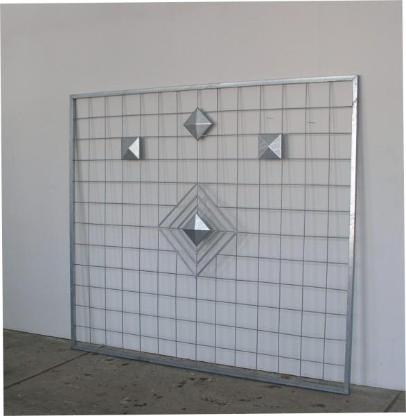 riesen xxl sichtschutz rankwand rankgitter diamond 214 186 feuerverzinkt gartengestaltung. Black Bedroom Furniture Sets. Home Design Ideas