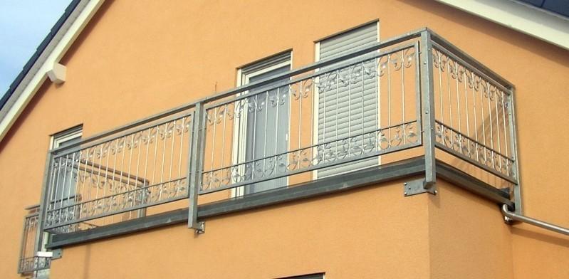 balkon gel nder gitter monaco z80 200 zink ebay. Black Bedroom Furniture Sets. Home Design Ideas
