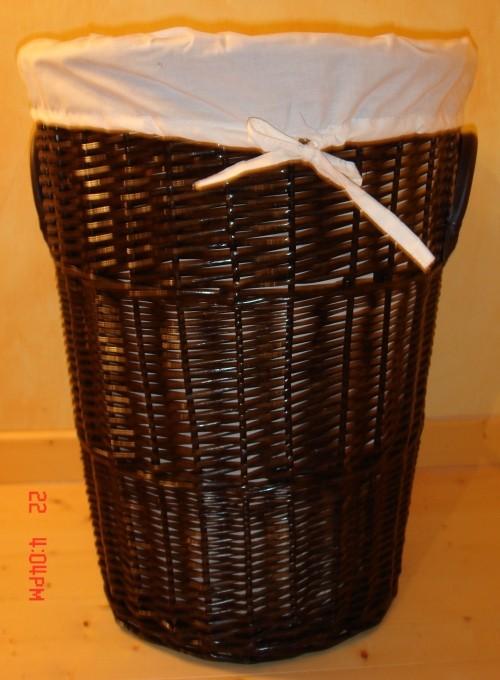 Wäschekorb Rattan Braun : landhaus rattan w schekorb rondella1 45cm dunkel braun ebay ~ Whattoseeinmadrid.com Haus und Dekorationen