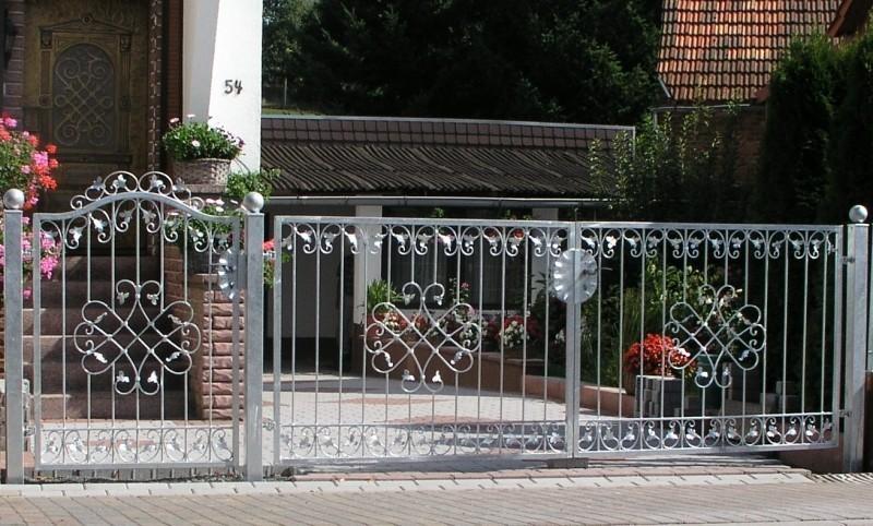 gartentor hoftor tor eisen metall monaco gft400 100 feuer. Black Bedroom Furniture Sets. Home Design Ideas