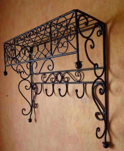 landhaus schmiedeeisen garderobe schl sselbrett verona1. Black Bedroom Furniture Sets. Home Design Ideas