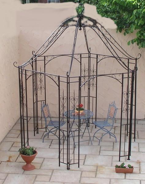 pavillion metall pavillon pavilion laube schmiedeeisen romanco schwarz rost gartengestaltung. Black Bedroom Furniture Sets. Home Design Ideas