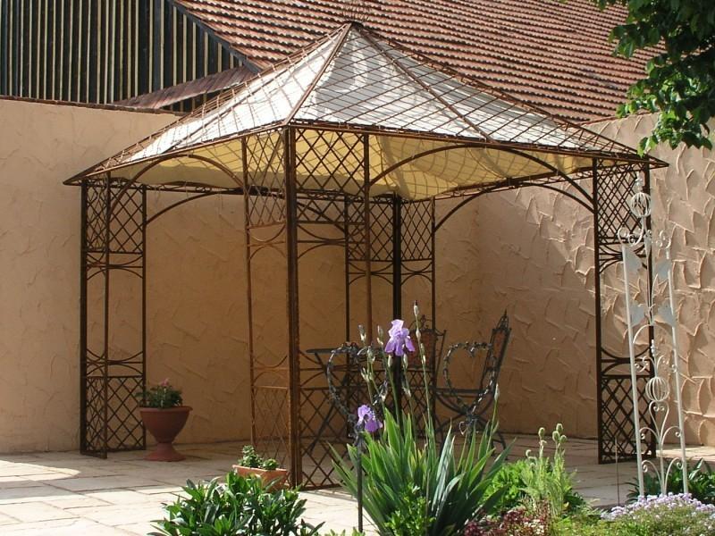 pavillion metall pavillon pavilion laube schmiedeeisen modena roh rost gross 280. Black Bedroom Furniture Sets. Home Design Ideas