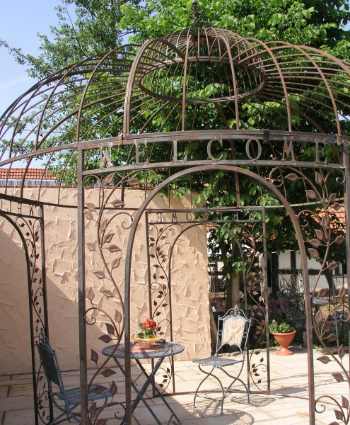 pavillion metall pavillon pavilion laube schmiedeeisen rondo rost. Black Bedroom Furniture Sets. Home Design Ideas
