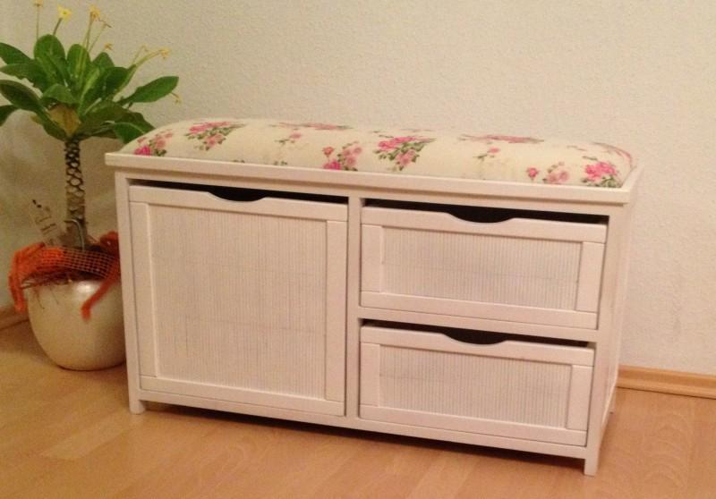 landhaus schuhregal schuhschrank sitzbank monza wei. Black Bedroom Furniture Sets. Home Design Ideas