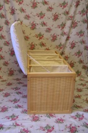 w schesortierer sitztruhe sitzbank truhe truhenbank viviane xlb 4 fach 4 f cher ambiente im haus. Black Bedroom Furniture Sets. Home Design Ideas