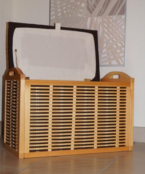 hell sitztruhe sitzbank truhe spielzeugtruhe w schekorb lena bicolour ambiente im haus w schekorb. Black Bedroom Furniture Sets. Home Design Ideas