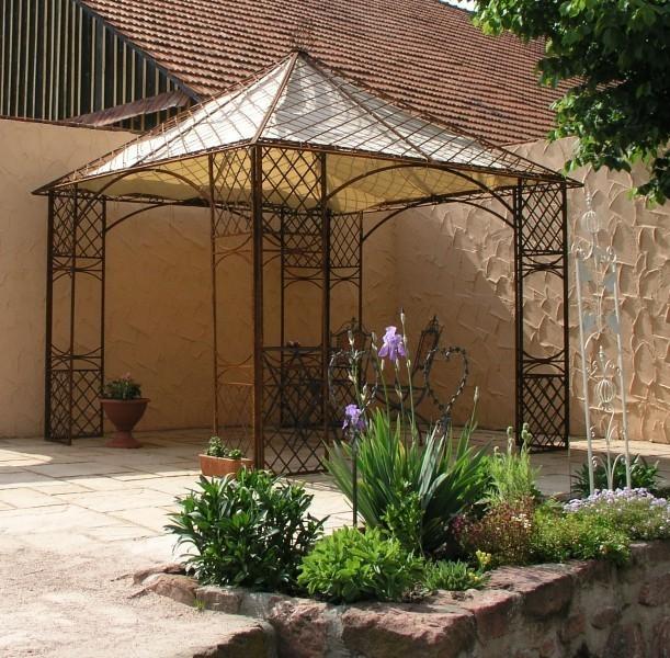 pavillion metall pavillon pavilion laube schmiedeeisen modena wei antik gross 280. Black Bedroom Furniture Sets. Home Design Ideas