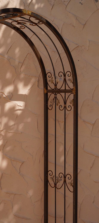rundbogen rosenbogen spalier massiv 2 mm monaco rb 120 220 roh rost ebay. Black Bedroom Furniture Sets. Home Design Ideas