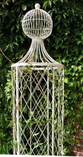 rankstab rankhilfe rankgitter obelisk wells xxl 225cm wei f r kletterrose gartengestaltung. Black Bedroom Furniture Sets. Home Design Ideas