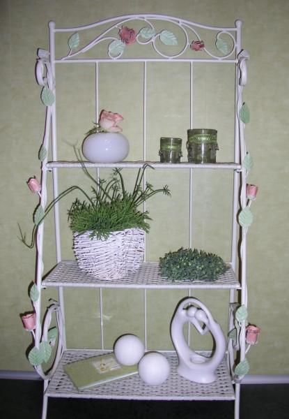 blumenregal regal eisenregal romantisch venezia 100 cm. Black Bedroom Furniture Sets. Home Design Ideas