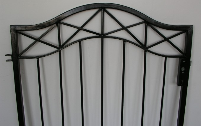 gartent r t r tor pforte crossline gt100 100s verzinkt tore pforten einfl glig rundbogen breite. Black Bedroom Furniture Sets. Home Design Ideas