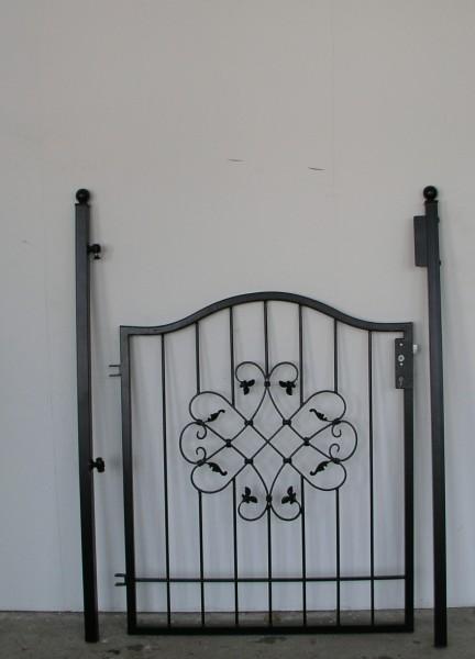 gartent r t r tor pforte vela gt100 100 tore pforten einfl glig rundbogen breite 100cm. Black Bedroom Furniture Sets. Home Design Ideas