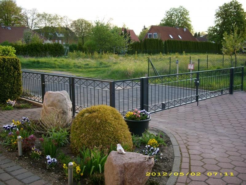 Gartenzaun z une zaunfeld metallzaun balkongel nder - Eisen gartenzaun ...