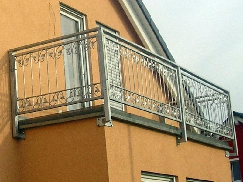 balkon gel nder gitter monaco z120 200 zink z une gartenz une h he 120cm. Black Bedroom Furniture Sets. Home Design Ideas